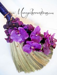 Wedding Broom Jumping Broom  Custom Made for by marayahscreations, $54.00