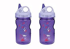 Nalgene Tritan Kids Gripngulp Water Bottle 12oz Purple Hoot Design 2 Pack 75 Inches Tall By 3 Inches in Diameter -- Click the VISIT button to enter the Amazon website