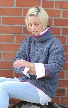 Free Pattern: Friendly Grey pullover. If i am ever this good, I will open a little shop and do custom work... oh how i would love that!! Aran Knitting Patterns, Jumper Patterns, Cardigan Pattern, Knitting Needles, Knit Cardigan, Hand Knitting, Aran Jumper, Knitting Sweaters, How To Start Knitting