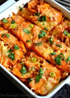 Mexican-Sweet-Potato-Gratin-with-Chicken  Recipe - RecipeChart.com #MainDish