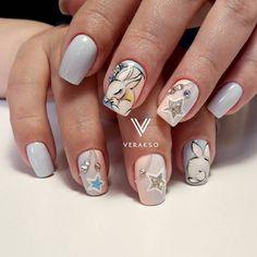 Так и хочется потрогать за хвостик🐇 # вераксо #вераксо_зверюшки Cute Nail Art, Cute Nails, My Nails, Bright Red Nails, Christmas Manicure, Easter Nail Art, Types Of Nails, Nail Decorations, Nail Inspo