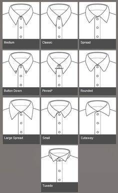shirt collar types