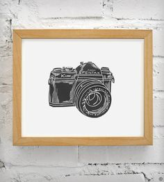 Pentax K-1000 Vintage Camera Print by Coffee in Bed | Scoutmob Shoppe