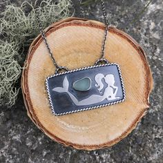 Sterling silver mermaid necklace with sea foam green blue sea glass! by lisajdesigns on Etsy https://www.etsy.com/listing/508573640/sterling-silver-mermaid-necklace-with