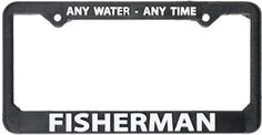 Any Water Any Time License Plate Frame