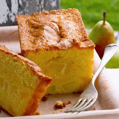 Cake moelleux aux poires - Cuisine actuelle mobile                                                                                                                                                                                 Plus