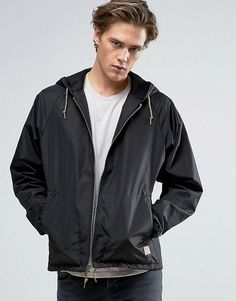 Get this Brixton's sport jacket now! Click for more details. Worldwide shipping. Brixton Claxton Windbreaker Jacket With Hood - Black: Jacket by Brixton, Lightweight nylon fabric, Lined with internal pocket, Drawstring hood, Zip fastening, Functional pockets, Elasticated cuffs, Drawstring hem, Regular fit - true to size, Machine wash, 100% Nylon, Our model wears a size Medium and is 6'1�/185.5 cm tall. Created in 2004, Brixton is inspired by music and culture and the people who surround…