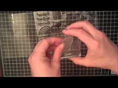 Tips for stamping with clear stamps