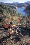 """Each year, Swain County attracts thousands of mountain bikers to the world-famous Tsali Recreation Area Trail System, 15 miles west of Bryson City. Pronounced """"SAH-lee"""" and named after the 19th Cherokee Indian martyr, the 42-mile network of multi-use trails is consistently rated one of the top ten riding destinations in the United States."""