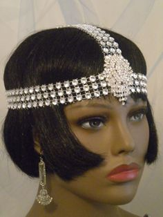 Flapper Headband 1920s Headpiece Gatsby by elisevictoriadesigns, $49.99