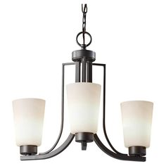 Murray Feiss F2763/3-F Weston 3 Light 1 Tier Chandelier Colonial Iron Indoor Lighting Chandeliers