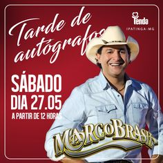 ☑ Marco Brasil, o locutor de rodeios mais top do país, estará na #LojasTenda Ipatinga. Você não pode perder a oportunidade de fazer seus melhores stories de fim de semana!