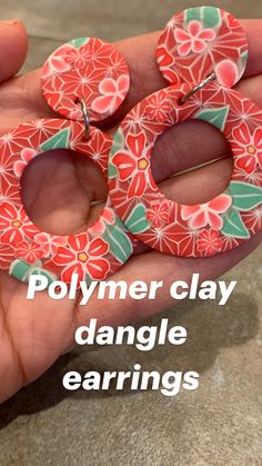 Polymer Clay Canes, Fimo Clay, Polymer Clay Projects, Polymer Clay Earrings, Clay Beads, Clay Crafts, Earring Crafts, Clay Figurine, Pottery Clay