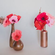 Make these crepe paper flowers in 5 steps! So colorful and they never die! We love paper flowers.