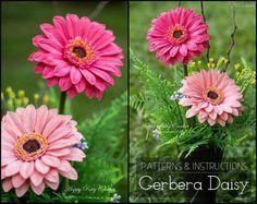 Crochet Flower PATTERN Crochet Gerbera Daisy by HappyPattyCrochet