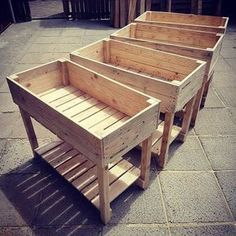 Easy to build pallet containers #PalletGarden