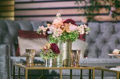 Urban Romance Houston Styled Shoot by En Vogue Events via 7 Centerpieces
