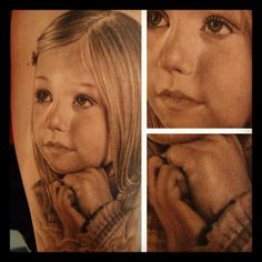 portrait tattoo by Franco Vescovi Creative Tattoos, Great Tattoos, Beautiful Tattoos, Body Art Tattoos, I Tattoo, Awesome Tattoos, Tatoos, Beautiful Body, Best Portraits