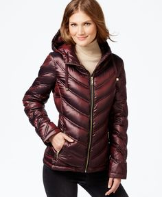 Calvin Klein Chevron-Quilted Packable Down Puffer Coat