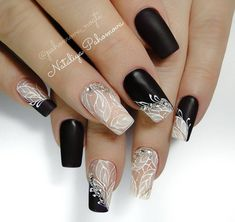 Beautiful nails by with Ugly Duckling Fufu Pink acrylic❤ ✨Ugly Duckling Nails page is dedicated to promoting quality, inspirational nails created by International Nail Artists💖 Black Nail Designs, Acrylic Nail Designs, Nail Art Designs, Acrylic Nails, Nails Design, Fun Nails, Pretty Nails, Lace Nails, Instagram Nails