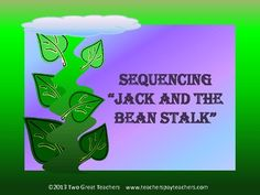 "Use this product to sequence ""Jack and the Beanstalk"". Easy to differentiate with either pictures or words. Read the story to your students and then discuss as a whole group. Students can then work the sequence in a whole group, small group or even in a center. This product will also work as a tutoring, enrichment or intervention activity. Print, copy and go."