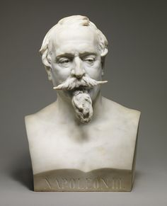 Bust of Napoleon III by Jean-Baptiste Carpeaux 1873    He followed Napoleon III around for years to get this just right.