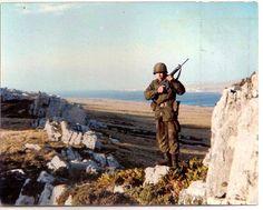Argentine Army Infantry Regiment soldier at sector Wireless ridge.