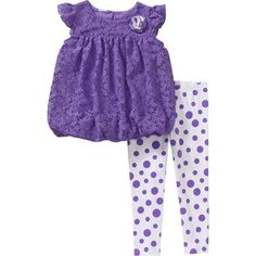 Healthtex Baby Toddler Girl Chiffon Tunic and Leggings Set