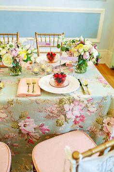 Floral Tablescape ❤❦♪♫
