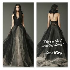 """""""I love a black wedding dress."""" - #VeraWang How about you? #bridalgown #BrideOfTheDay #weddings #weddingsreinvented"""