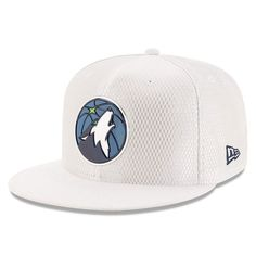 purchase cheap d602e a88a3 Men s Minnesota Timberwolves New Era White 2017 Official On-Court Collection  59FIFTY Fitted Hat,