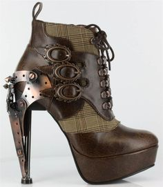 Hades Brown Oxford Boot Heels. i want for christmas pls