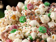 Christmas Crunch {Funfetti Popcorn}! Recipe