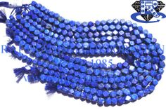Lapis Lazuli Cut Square (Quality AA) Shape: Square Cut Length: 36 cm Weight Approx: 45 to 47 Grms. Size Approx: 6.5 to 8.5 mm Price $27.40 Each Strand