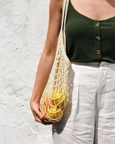 Farmers Market Outfit, Off White, White Beige, Crochet Market Bag, Net Bag, Filets, Shopper Bag, Knitted Bags, Cotton Bag