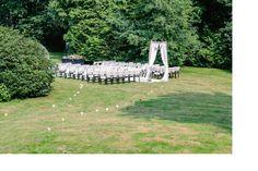 Wedding decoration DIY ideas: outside ceremony