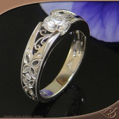 4-prong Pierced Mounting  #jewelryworks  #engagement