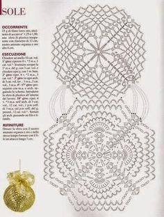Výsledok vyhľadávania obrázkov pre dopyt schematy bombki by siwa Crochet Chart, Crochet Motif, Crochet Doilies, Crochet Patterns, Crochet Lamp, Thread Crochet, Diy Crochet, Crochet Christmas Ornaments, Beaded Ornaments