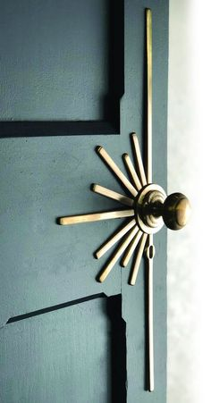 Description Sunburst lever handle is the latest addition to our Art Deco collection. The Sunburst lever handle is shown here cast in brass and finished with a semi aged patina. Handles are unsprung can be supplied with or without the escutcheon detail.