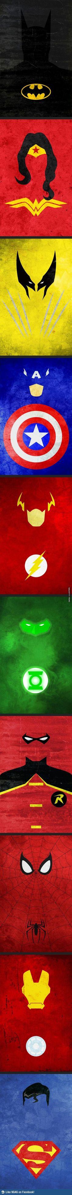 Minimalist Superhero Posters DC and Marvel