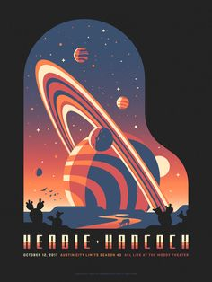 Herbie Hancock poster by DKNGYou can find illustrations posters and more on our website.Herbie Hancock poster by DKNG Space Illustration, Graphic Design Illustration, Graphic Design Posters, Graphic Design Inspiration, Arte Sci Fi, Illustrator, Kunst Poster, Grafik Design, Illustrations Posters