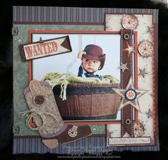 """""""Wanted"""" #layout by Angela Timms #scrapbook"""