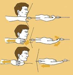 양궁 하는 모습 디테일 출처 : http://wilayah-archery.blogspot.kr/2009/06/archery-technique-tips-part-1.html … *출처속으로 가시면 영어로 된 설명과 함께 보실 수 있습니다.