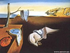 Wallpaper of Salvador Dali for fans of Fine Art. The Persistence of Time by Salvador Dali