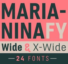 LAST DAY: Marianina Extended Font Family (24 Fonts) - only $27! - MightyDeals