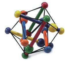 This is swish, from manhattantoy. I like the way a sort of dodecahedral symmetry is achieved using six posts that are oriented at right angles to one another. The ratio of the length of the posts to the length of the edges of the triangles is phi, the golden ratio, about 1.618.