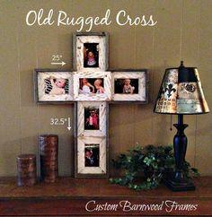 Custom Barnwood Frames - OLD RUGGED CROSS, $39.99 (http://www.custombarnwoodframing.com/products/old-rugged-cross.html)