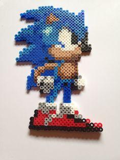 Sonic perler beads by DaRogueBunniex on deviantart