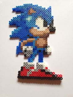 Sonic perler beads by DaRogueBunniex on deviantart