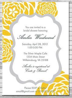 gray and yellow invite